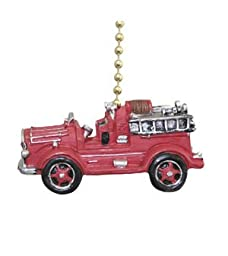 vintage style FIRETRUCK Fire truck engine ceiling Fan Pull chain extender
