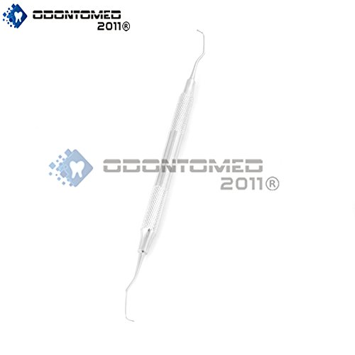 OdontoMed2011 DENTAL GRACEY CURETTES 1/2 DOUBLE ENDED HOLLOW HANDLE STAINLESS STEEL (Touch Hollow Handle)