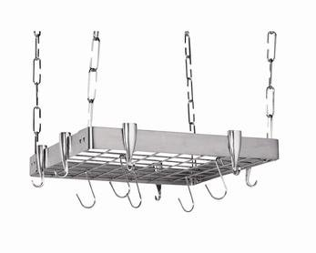 Square Ceiling Kitchen Pot Rack
