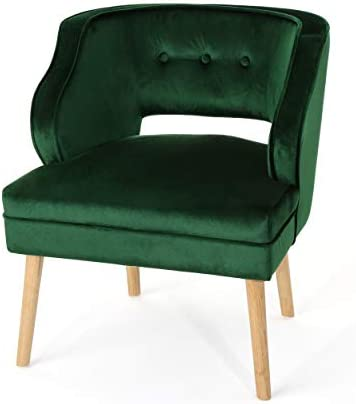 Christopher Knight Home Mariposa Mid-Century Velvet Accent Chair