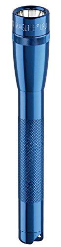 Maglite Mini LED 2-Cell AA Flashlight with Holster, Blue - Mini Led Flashlight Blue Light