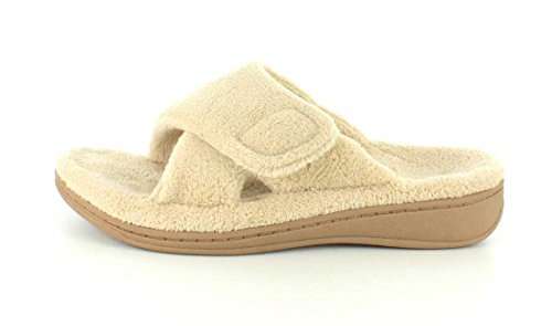 Vionic Womens Relax Slippers in Tan Size 8