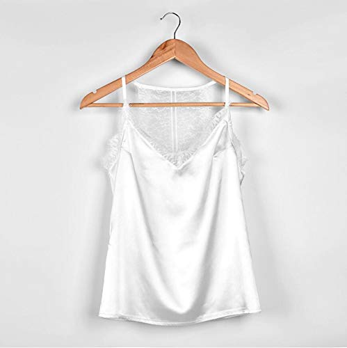 963b09d6f5 Summer Elegant Women Lace V Neck Imitation Satin Silk Top Sexy Tops Women Tank  Top Women's