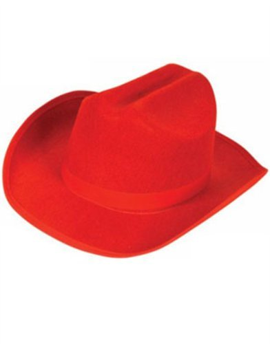 New Child's Country Red Cowboy Felt Costume Hat -