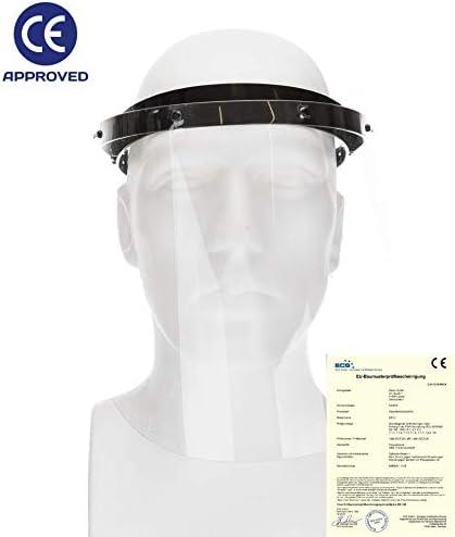 con certificado CE Fredo Visera facial abatible para hombre // mujer // ni/ño Visera de policarbonato