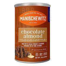 Manischewitz Chocolate Almond Macaroons, 10-Ounce Tins (Pack of 2) by Manischewitz