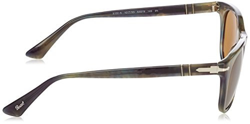 de 53mm soleil 101733 Brown Persol Pour Grey Homme 3102 Tortoise Lunettes Stripped 54xqwFU