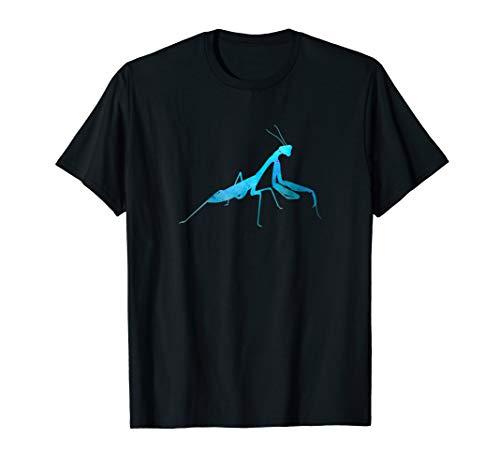 Praying Mantis Rustic Blue T-Shirt -