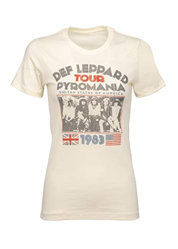 - Def Leppard Womens Pyromania Tour Band T-Shirt Tee - Size X-Large