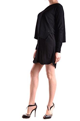 Liu Jo Mujer MCBI191101O Negro Viscosa Vestido
