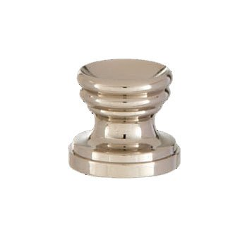 B&P Lamp Cup Shaped Design, Base Only Finial, Nickel Finish
