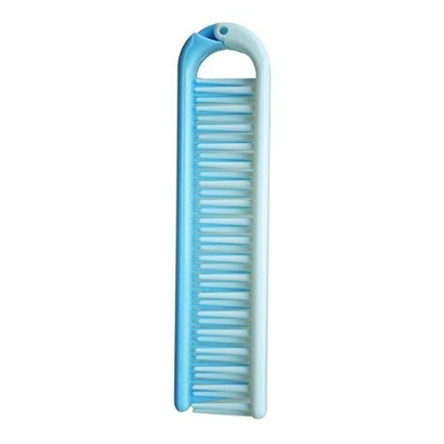 Demana Peines cepillo de pelo de viajes dientes gruesos plegable plástico cepillo de pelo doble para mujeres chicas