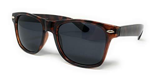 Sunglasses Classic 80's Vintage Style Design (Tortoise Gloss Polarized, Smoke)... (Polarisierte Wayfarer-gläsern)