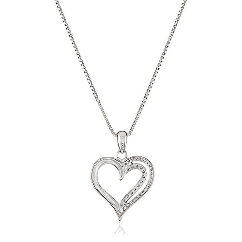 crystal purple products shaped sterling heart necklace romantic silver