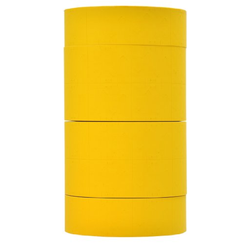 Yellow Pricing Labels to fit Monarch 1151, 1152, 1153, 1175, 1176, and 1177 Pricers. 6 Rolls with 1 Free Ink Roller.