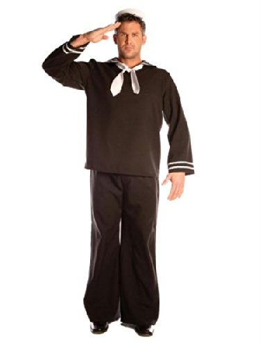 Sailor Halloween Costumes Men (Underwraps Men's Sailor, Black, One Size)