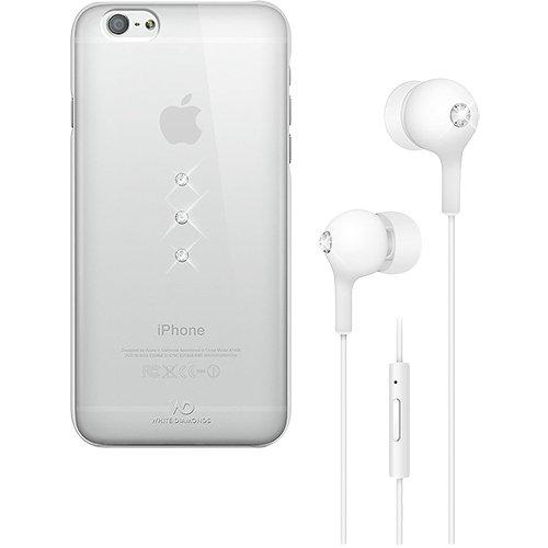 White Diamonds 7007TRI5 Schutzhülle mit Ohrhörer für Apple iPhone 6 weiß