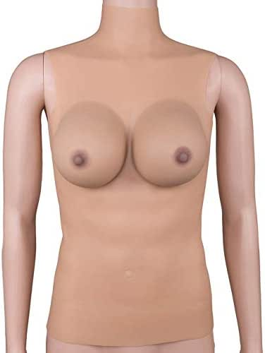 100% Non-Allergic Medical Silicone,Silicone Breast Form Full Boob in Colour for Mastectomy,S