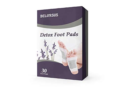 BELAMUR Detox Foot Patches 30 Pack Feet Pads Weight Loss Foot Pain Relief Blood Circulation Booster Detoxifying Slimming Patches Anti-Stress  Sleeping Mask