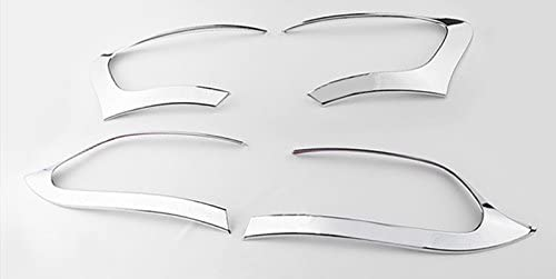 ABS Chrome Rear Tail Light Lamp Trim Cover 4pcs for Jeep Cherokee 2014-2016