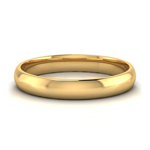 Buy Jewels 10k Gold Comfort Fit 4mm Wedding Bands for Men and Women (yellow-gold, 7) by Buy Jewels