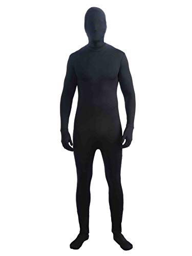 Forum Im Invisible Unisex Bodysuit, Black, X-Large Costume ()