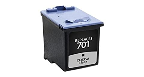 Inksters Remanufactured ink Cartridge Replacement for HP 701 Ink Black, CC635A (HP 701)
