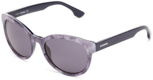 Diesel Plastic Sunglasses - Diesel DL00415420V Round Sunglasses,Blue,54 mm