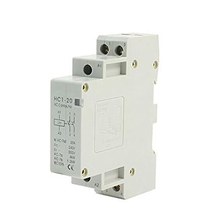 24V 20A de la bobina 2 Polo 6 Terminal de tornillo de control de motores de CA contactor HC1-20