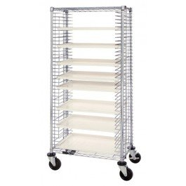 Unit Dispensing Mobile (Quantum Storage Systems TC-39 Modular Tray Wire Cart, 39 Trays Capacity, Chrome Finish, 18