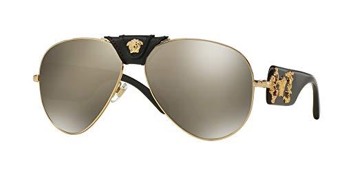 Versace Man Sunglasses, Gold Lenses Metal Frame, ()
