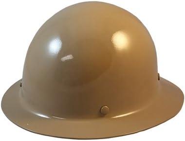 Msa Skullgard Hard Hat Suspension Light Fiberglass Tan Full Brim Fas-Trac III