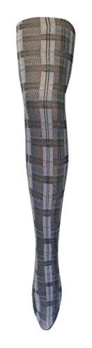 Chaussette Snob - Womens Épais Collants D'hiver À Motifs Colorés Opaques 80 Deniers Skye Noir / Blanc