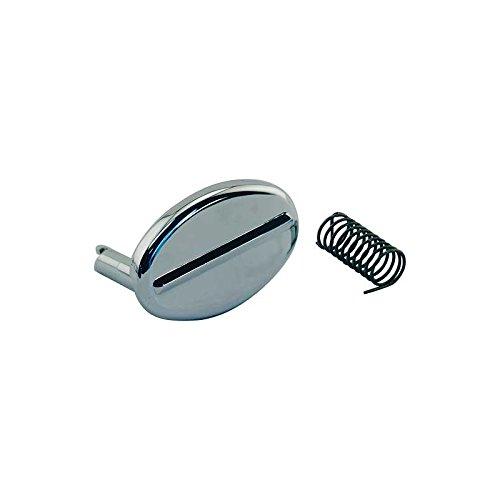 MACs Auto Parts 60-33391 Trunk Lock Cover - Die-cast Chrome - Includes - Down Pull Trim Diecast