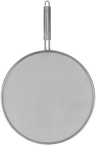 Fackelmann 40478 Nirosta Spritzschutz mit Ovalgriff, 29 cm