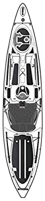 8070179 Wilderness Systems Silent Traction Pad Kit - Tarpon 120, Black from Confluence Accessories