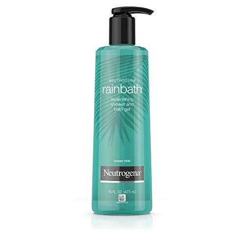 Neutrogena Rainbath Replenishing and Cleansing Shower and Bath Gel, Moisturizing Body Wash and Shaving Gel with Clean Rinsing Lather, Ocean Mist Scent, 16 fl. oz