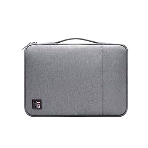 New 13inch Laptop Storage Bag Waterproof Passport Document Book File Folder Pouch Organizer Outdoor Travel - Grey by F.S.M.