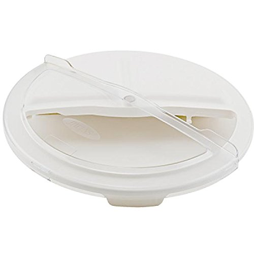 Winco FCW-20RC, White Rotating Lid for 20-Gallon Polypropylene Trash Container