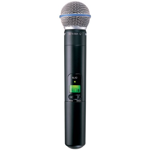 Shure SLX2/BETA58 Handheld Transmitter with BETA 58A Microphone, G4 ()