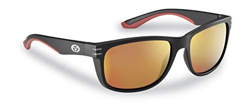 a597468c22 Flying Fisherman Double Header Polarized Sunglasses for Men and Women.  Black Frames and Amber-Red Mirror Lens with AcuTint UV Blocker for Fishing  and ...