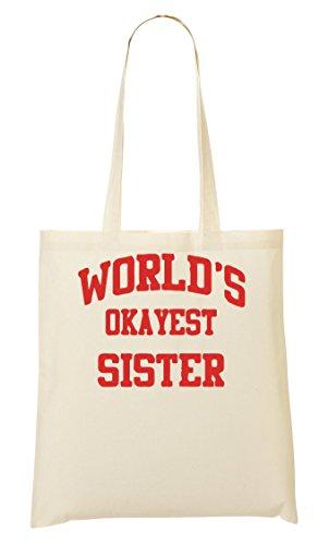 World'S Okayest Sister Bolso De Mano Bolsa De La Compra