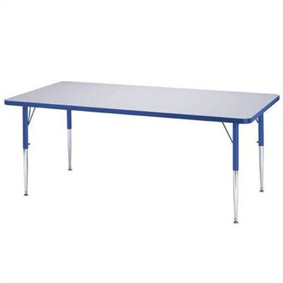 UPC 743080019103, Rectangular Activity Table - Toddler (30 in. W x 72 in. L x 11 - 15 in. H - Teal)