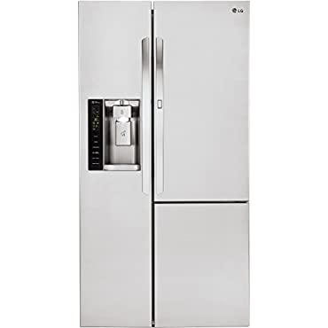 LG LSXC22386S 36 Freestanding Counter Depth Side by Side Refrigerator with 21.73 cu. ft. Capacity, in Stainless Steel