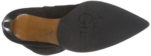 Paco Gil P3132, Zapatillas de Estar por Casa para Mujer Negro