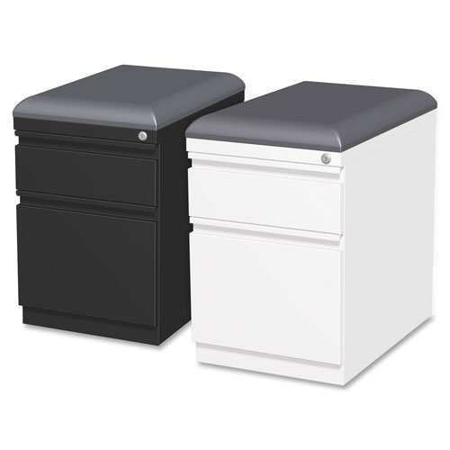 """Lorell Mobile Seat Ped File, 15""""x19-7/8""""x23-3/4"""", Black, Sold as 1 Each"""
