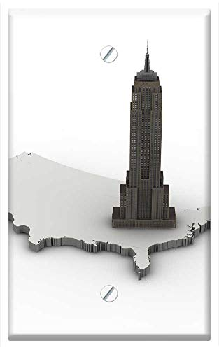 Single-Gang Blank Wall Plate Cover - Empire State Bulding New York Architecture Building ()