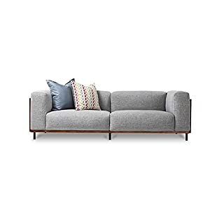 CHuangQi Stile Divano in Tessuto Nordic mobili Piccolo Appartamento Composto da Soggiorno Semplice di Tre Persone Divano… 3 spesavip