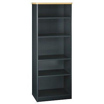 Savannah Bookcase (Bookcase 5 Shelf (Savannah Beech/Slate Gray))