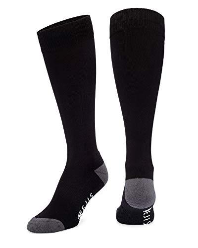 Ejis Dress Socks for Men with Anti-Odor Silver (Black/Grey, Single Pack)